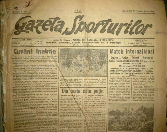 Gazeta Sporturilor 14 sep 1924