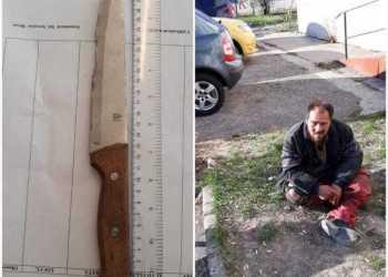 Un om al străzii a amenințat trecătorii cu un cuțit 4