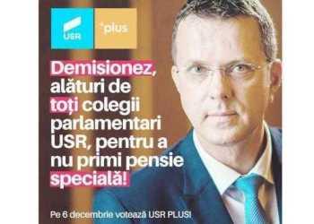 """Parlamentarii USR şi-au dat demisiile ca să nu primească pensii speciale. Ionuţ Moşteanu: """"Pensiile speciale sunt furt"""" 5"""