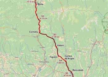 CNAIR a anunţat câştigătorul execuţiei lotului 4 al autostrăzii Sibiu Piteşti, sectorul de 10 km cuprins între Tigveni şi Curtea de Argeş 2