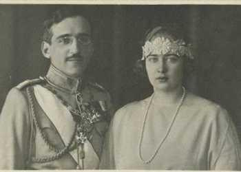 regina Maria de Romania si regele Alexandru I al Iugoslaviei