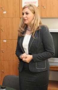 Directorul liceului, prof. Marinela Culea