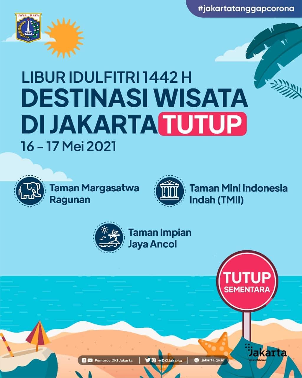 Tiga Kawasan Wisata Di Jakarta, Ditutup Sementara