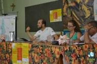 O ecólogo Tarcísio Santos, Carolina Jordão, do ICV, e o engenheiro eletricista Joilson Costa. Foto de Dafne Spolti.