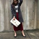 【秋冬のマストアイテム】赤のベロアスカートのおすすめコーデ7選