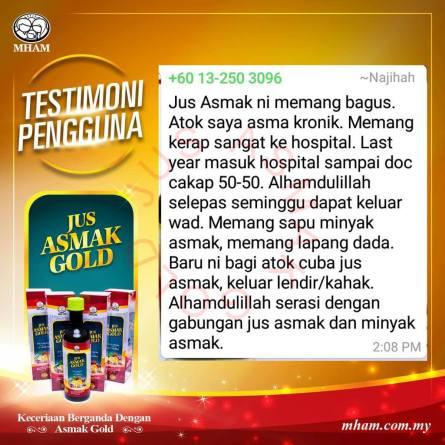Testimoni Jus Asmak Gold 1