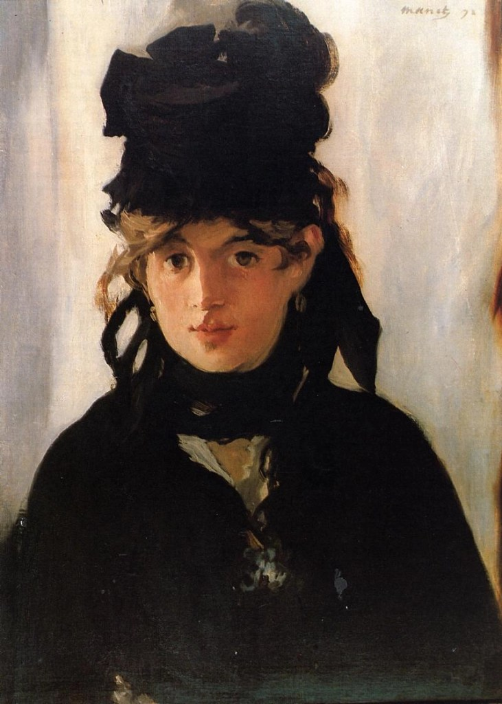 Berthe Morisot with a Bouquet of Violets  1872 by Edouard Manet