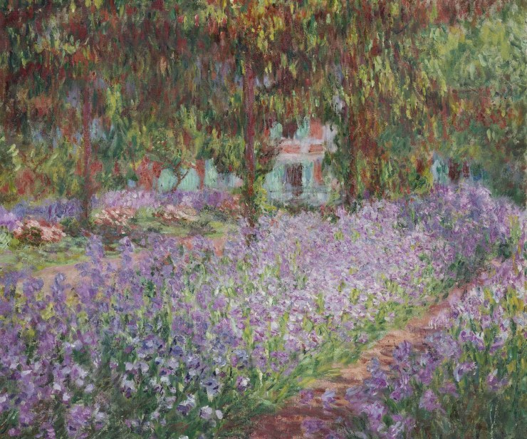 Irises in Monets Garden by Claude Monet