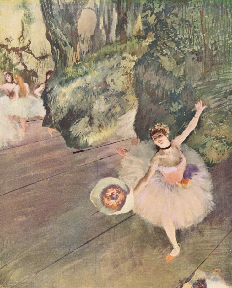 Dancer with a Bouquet of Flowers, the Star of the Ballet by Edgar Degas