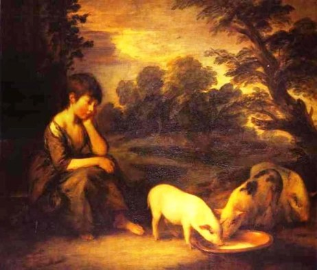 Girl with Pigs by Thomas Gainsborough