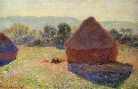 Grainstacks in the Sunlight, Midday by Claude Monet