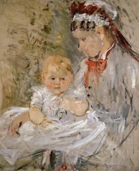 Julie Manet and Her Nurse by Berthe Morisot