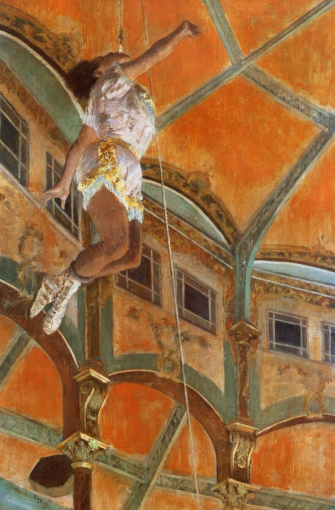 Miss La La at the Cirque Fernando by Edgar Degas