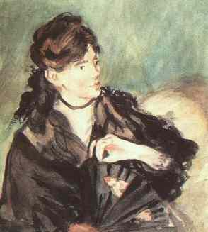 Portrait of Berthe Morisot by Edouard Manet