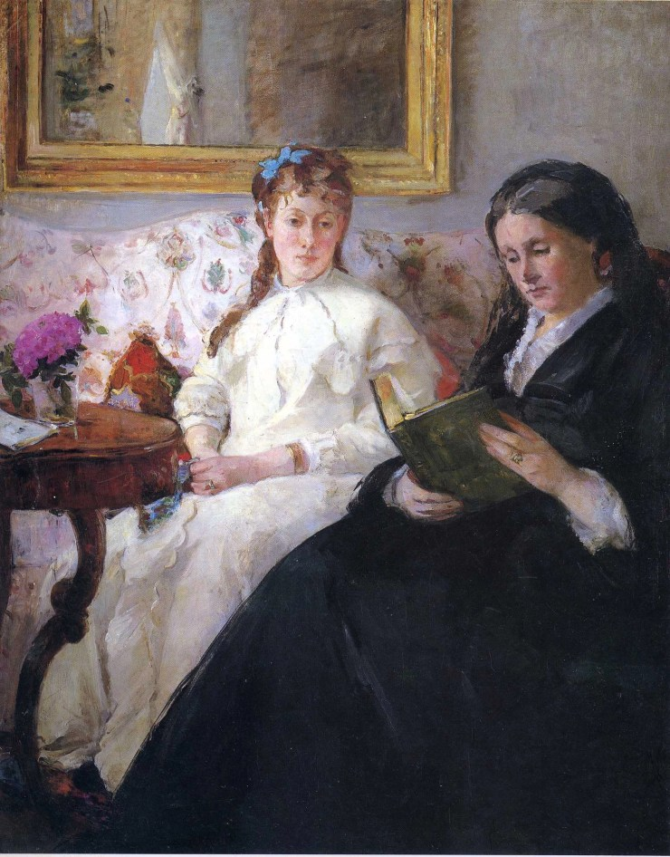 Portrait of the Artist's Mother and Sister by Berthe Morisot