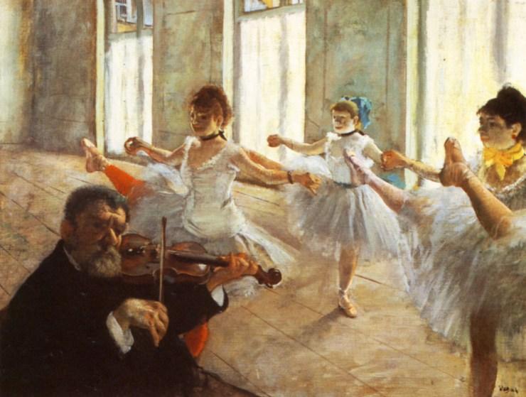 Rehearsal by Edgar Degas
