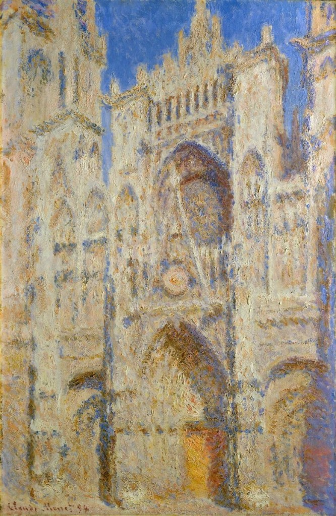 Rouen Cathedral, Portal in the Sun  by Claude Monet