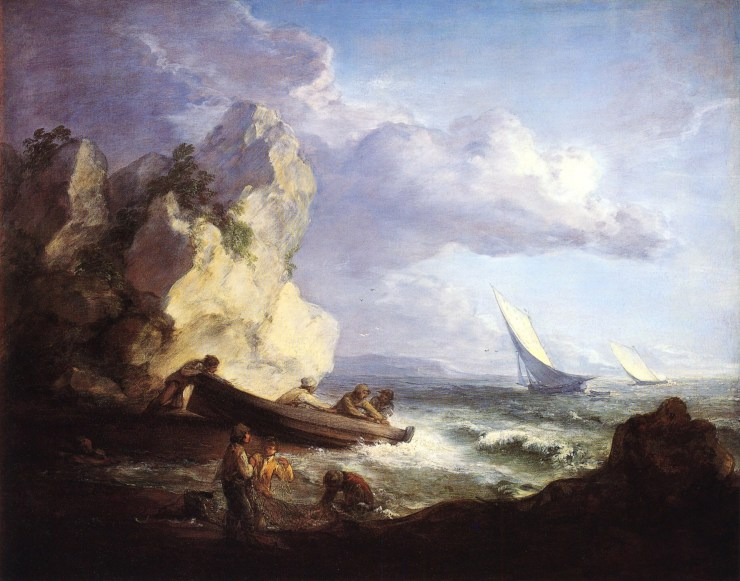 Seashore with Fisherman by Thomas Gainsborough