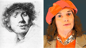 Rembrandt making silly face