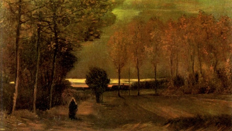 Autumn Landscape at Dusk by Vincent van Gogh