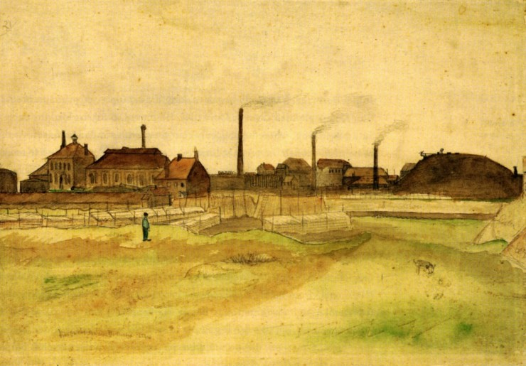 Coalmine in the Borinage by Vincent van Gogh