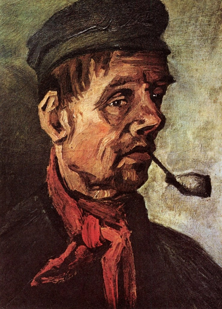 Head of a Peasant with a Pipe by Vincent van Gogh