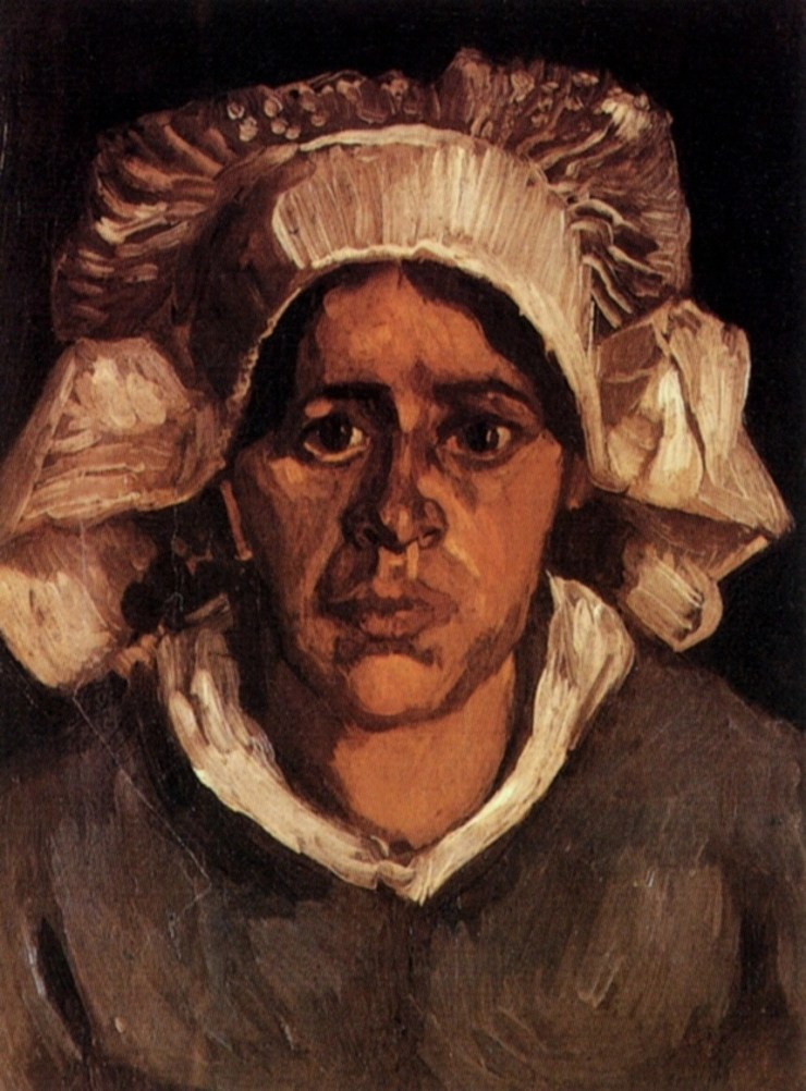 Head of a Peasant Woman with White Cap by Vincent van Gogh
