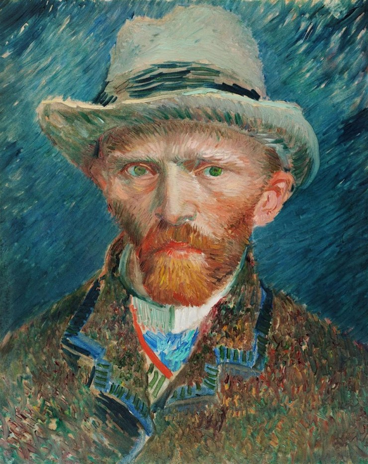Self-Portrait with a Grey Felt Hat by Vincent van Gogh
