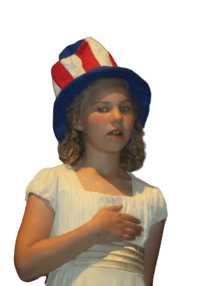 Child doing actions while singing, how to teach something using a song