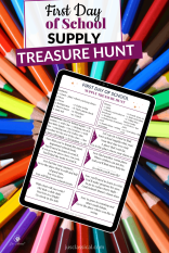 First Day of School Supply Treasure Hunt download picture