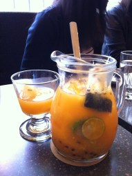 Iced Fresh Fruit Tea; Coffee Alley