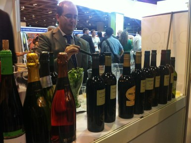 The making of Rebujito at Amorosso booth; Rest&Bar Expo