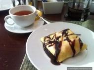 Earl grey tea and Strawberry Crepe; Cafe at Hyatt Regency Shatin Hotel