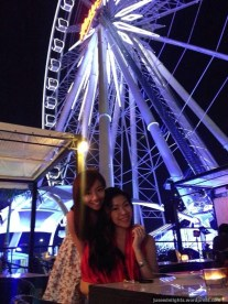 Samantha and I; Top View Seafood & Beer Garden, Asiatique, Bangkok