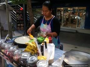 Hawker stall; streets of Bangkok