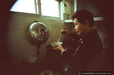 Last year's photo of grandma in the kitchen