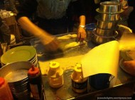 Rolling of Cheung fun; Kweilin Street Night Market