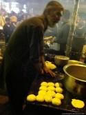 Making of Pita Bread dough; Kweilin Street Night Market