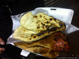 Pita Bread and Chicken Wing, Middle-Eastern style; Kweilin Street Night Market