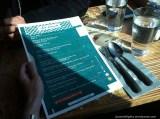 Menu on table; FULL/half