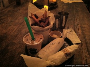 Fries, half MANA! Joy, half MANA! Prana and Babylon Shake; MANA! Fast Slow Food