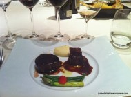 Tajima Beef Short Rib and Tenderloin with Plum Sauce; 8 ½ Otto e Mezzo BOMBANA