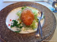 Baked Crab Shell Stuffed with Fresh Crab Meat and Black Truffle; Four Seasons, for Castiglion del Bosco