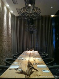 Small private dining room that allows Chef Andre to stay focused and serve his guests every evening; Restaurant ANDRE