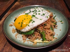 Thai Style Fried Brown Rice with Minced Pork & Sunshine Egg; Oldish