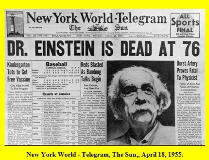 Rare-Newspapers-Headlines-Dr.-Einstein-is-Dead-April-18-1955-Old-Rare-Newspapers