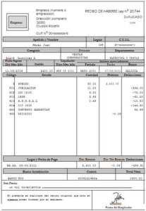 ejemplo de recibo de sueldo derecho laboral