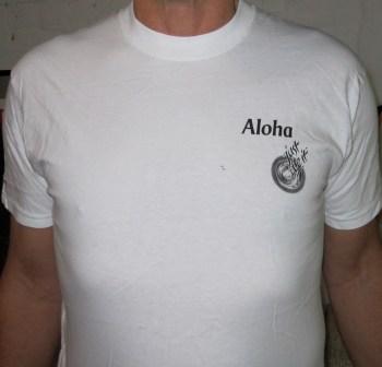 Aloha...JBi logo    White s, m, l, xl          $12