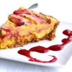 Easy Mango Blackberry Swirl Ice Cream Pie   {nut, dairy & grain-free crust!}