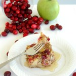A Thanksgiving Breakfast: Spiced Cranberry Apple Baked Oatmeal